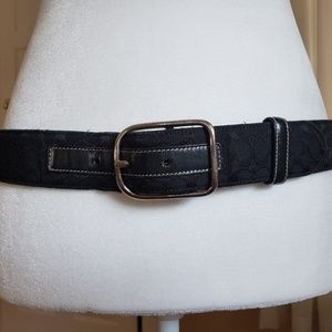 Coach Signature Black Jacquard Belt